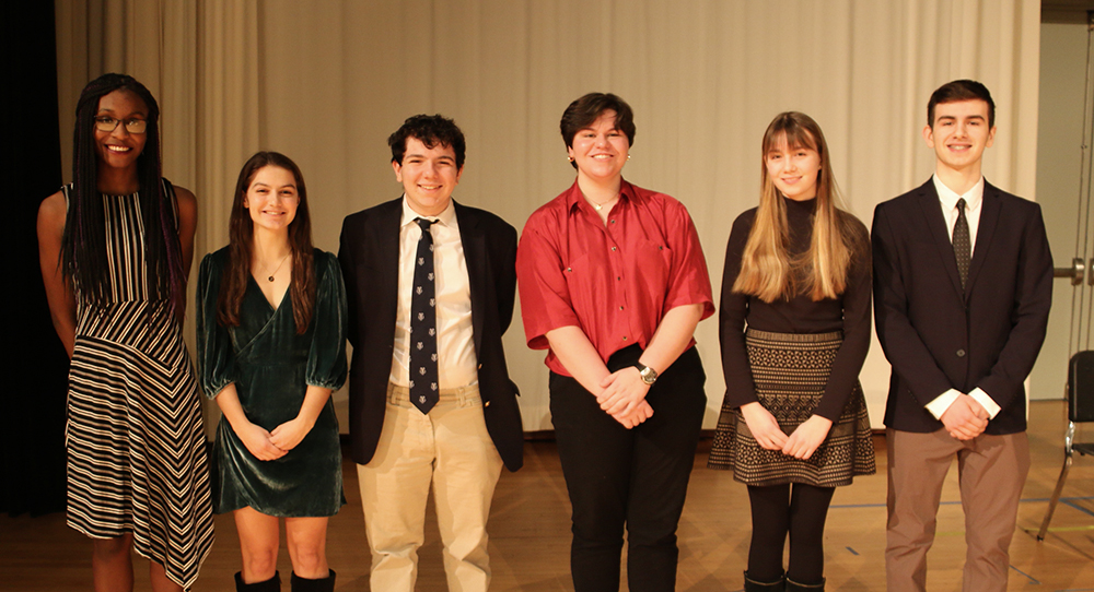 The six finalists of the LeBow competition